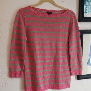 Talbots 100% Linen Stripe Sweater VGUC Sz Sp